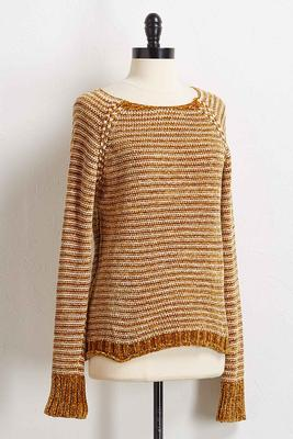 golden chenille sweater