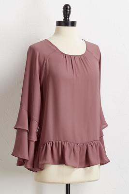romantic ruffled top