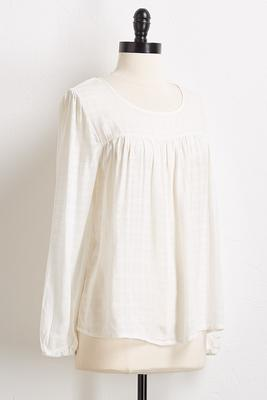 sheer textured poet top
