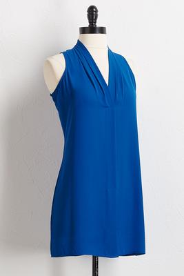 blue inverted pleat tunic