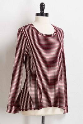 seamed stripe top