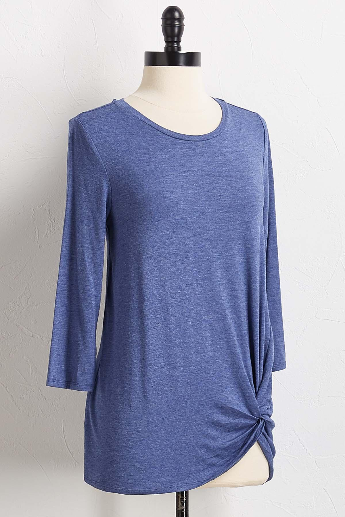 Solid Knotted Tee
