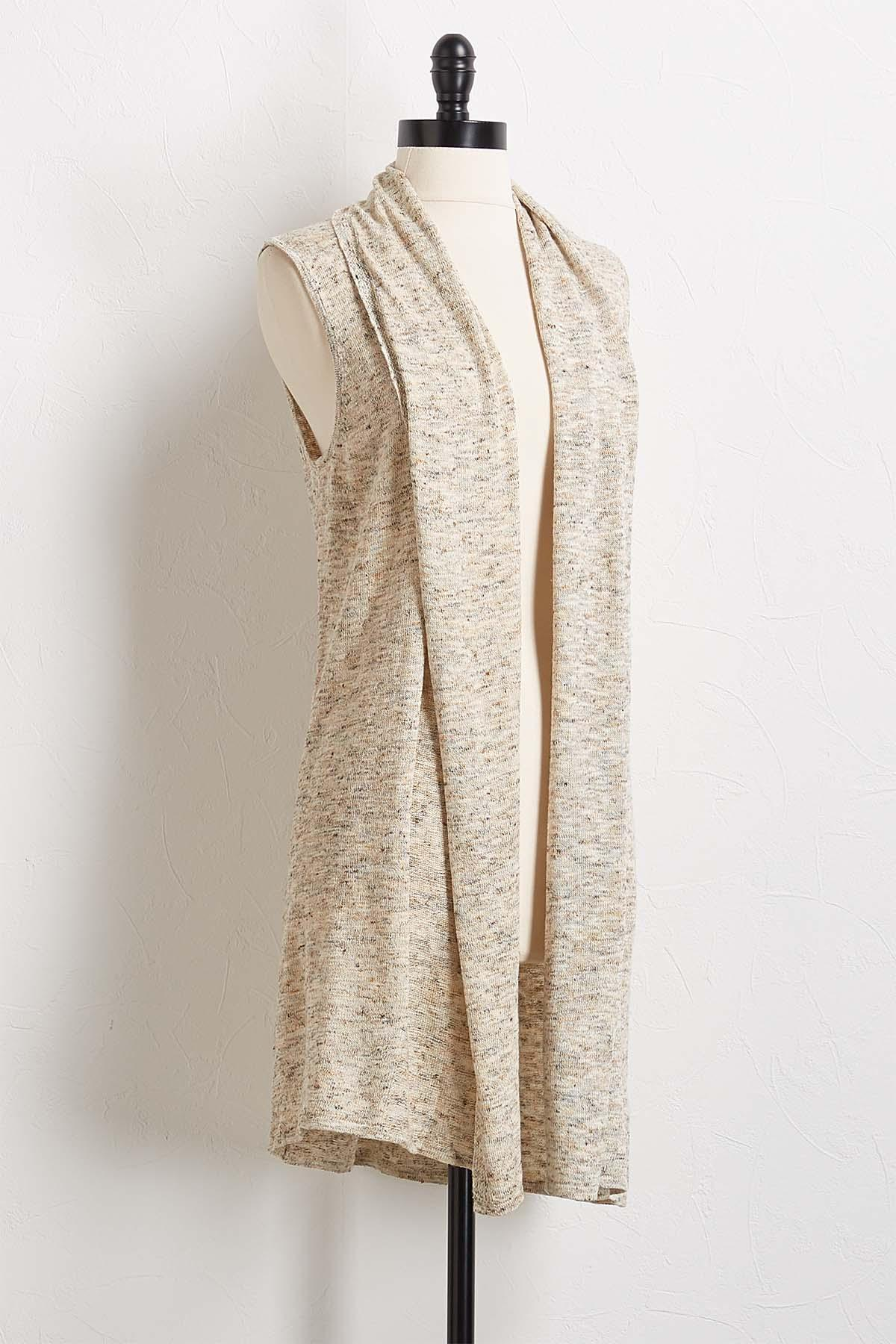 Speckled Oatmeal Sweater Vest
