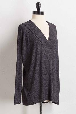 ribbed hacci knit tunic