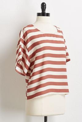 autumn stripe boxy top