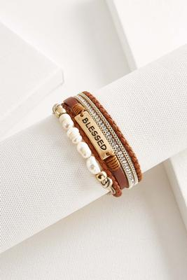 multi layered blessed bracelet