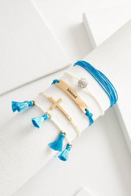 blessed boho bracelet set