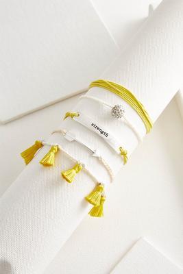 strength boho bracelet set