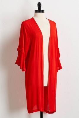 crepe bow sleeve kimono s