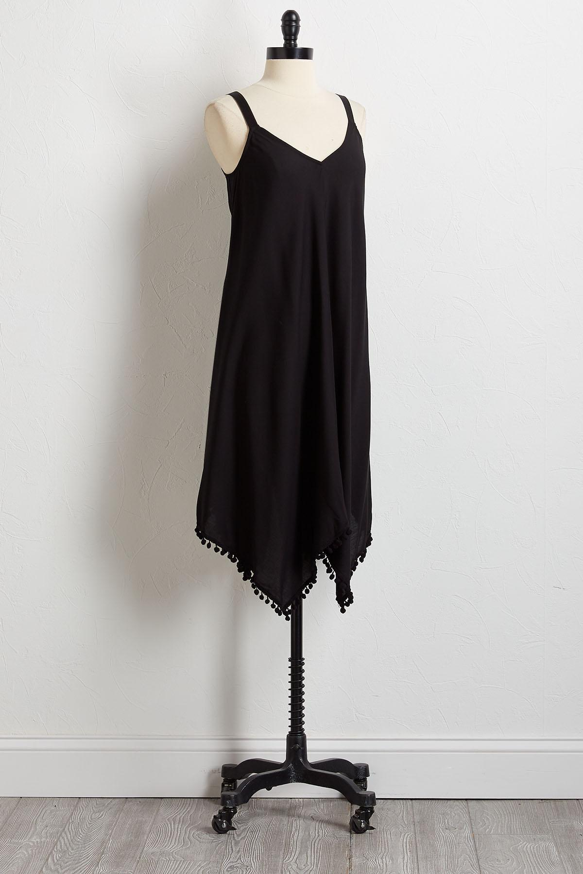 Pom- Pom Hanky Hem Dress