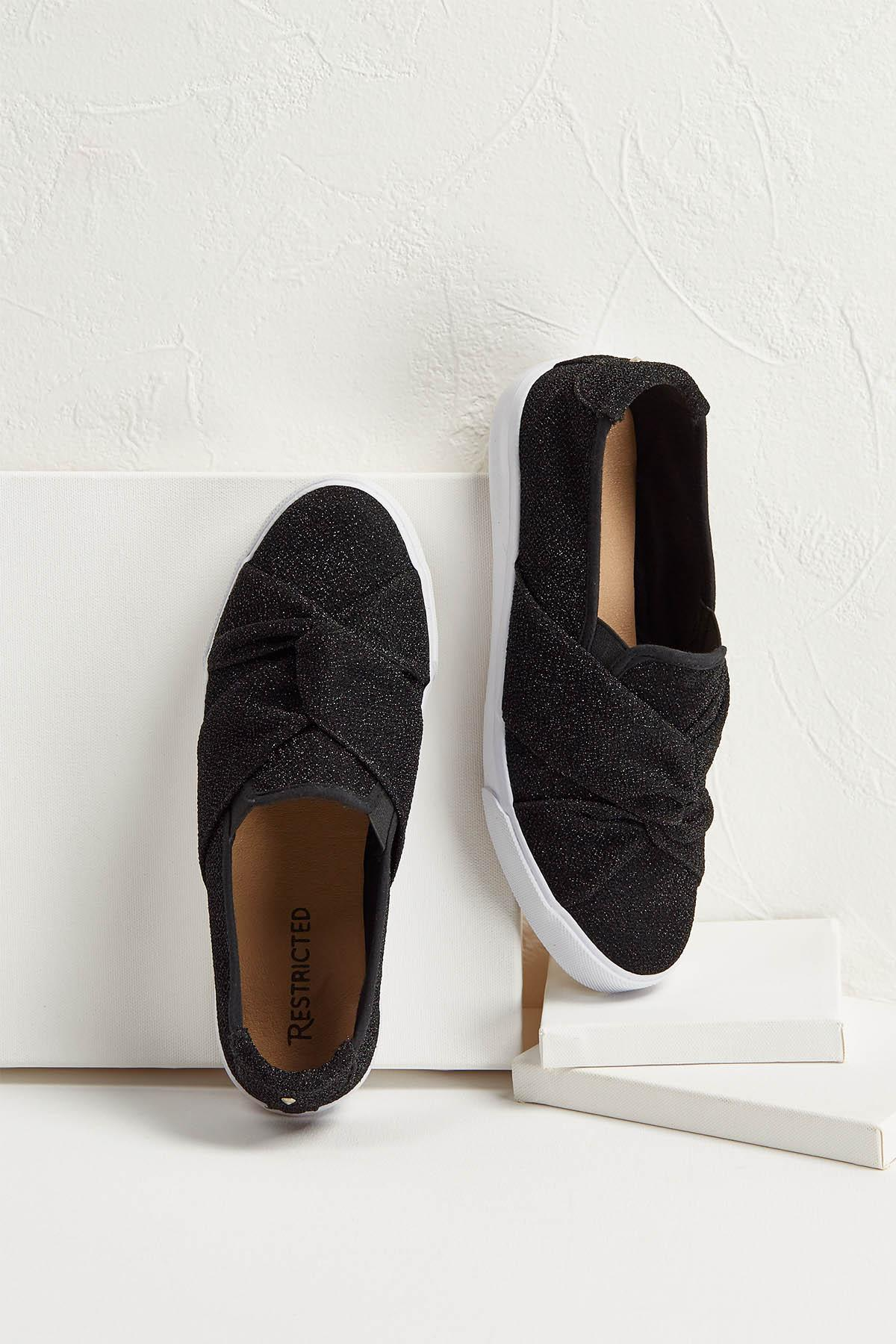Knotted Shimmer Sneakers