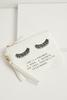 Lashes And Quote Canvas Wristlet