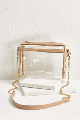 clear stadium crossbody bag