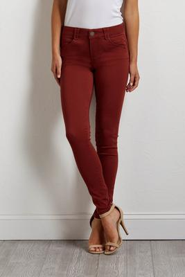 shape enhancing twill pants
