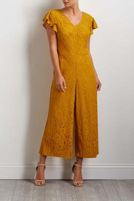 golden lace jumpsuit