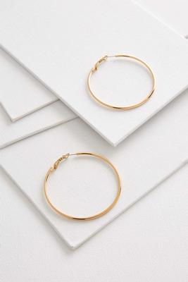 oversized hoop earrings