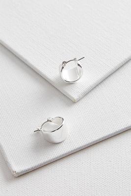 dainty wide metal hoop earrings