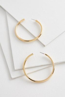 oversized metal hoop earrings