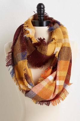 fall plaid infinity scarf