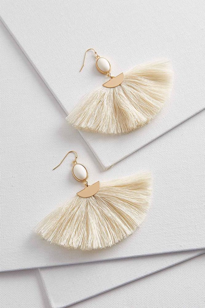 Fan Tassel Dangle Earrings