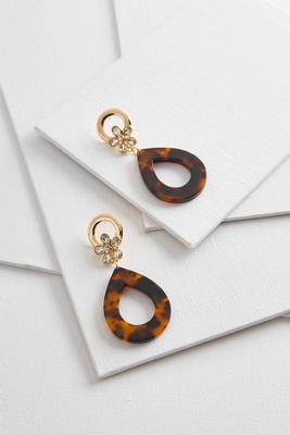 tortoise shell dangle earrings s