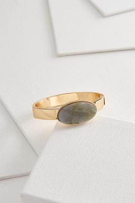 semi-precious hinge bracelet