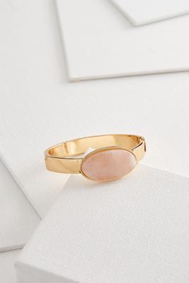 semi-precious rose hinge bracelet