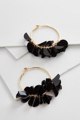 shaky bent sequin hoops
