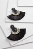 Beaded Fan Fringe Earrings