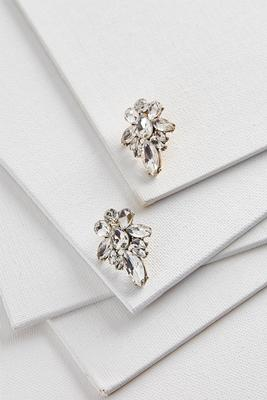 petal cluster stud earrings