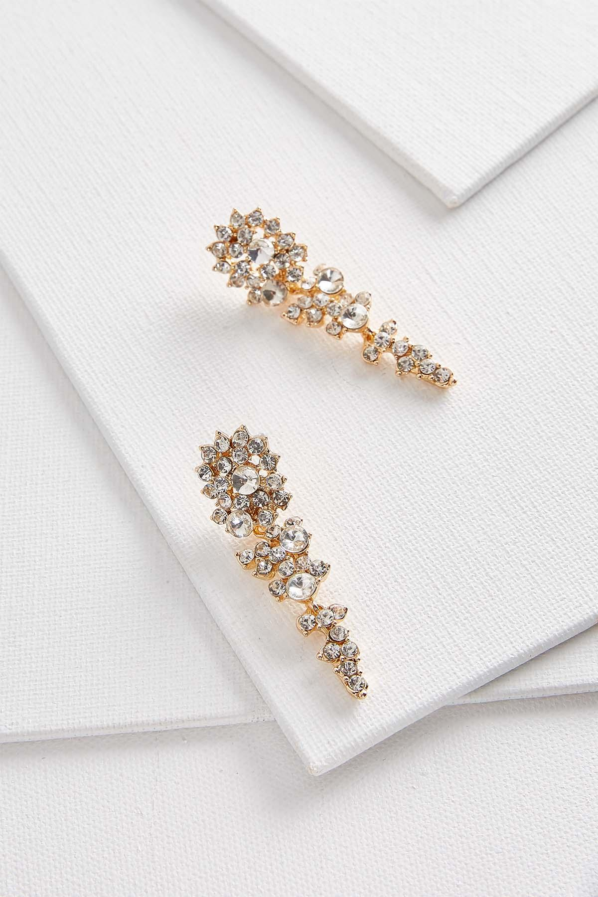Linear Rhinestone Earrings