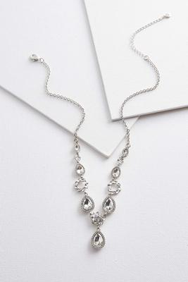 rhinestone pendant y-necklace