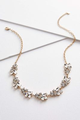 rhinestone petal necklace