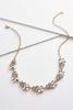 Rhinestone Petal Necklace