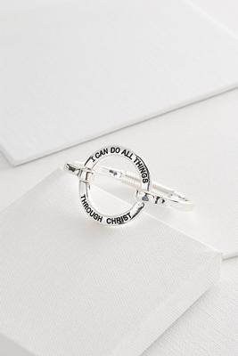 can do all things bangle bracelet