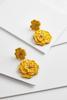 Bead And String Flower Earrings