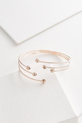 sphere end metal cuff bracelet