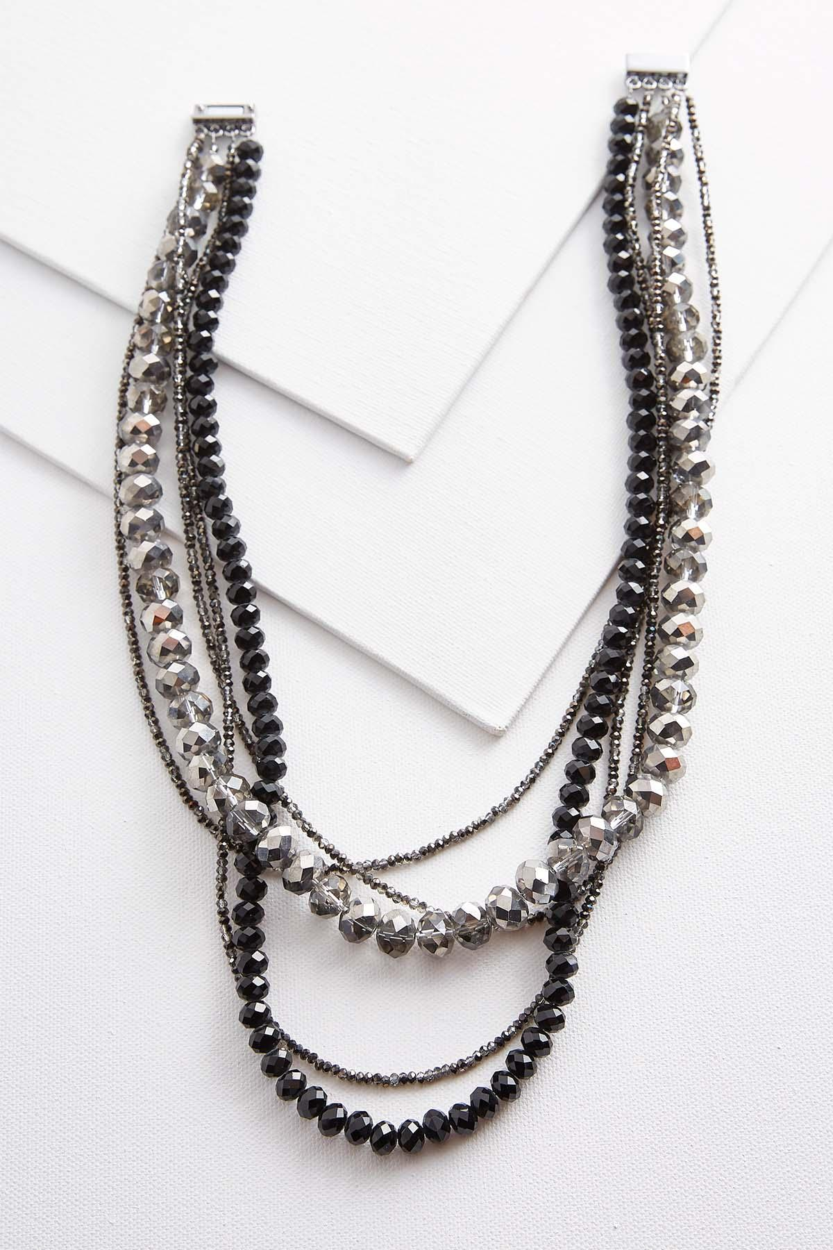 Layered Rondelle Beaded Necklace