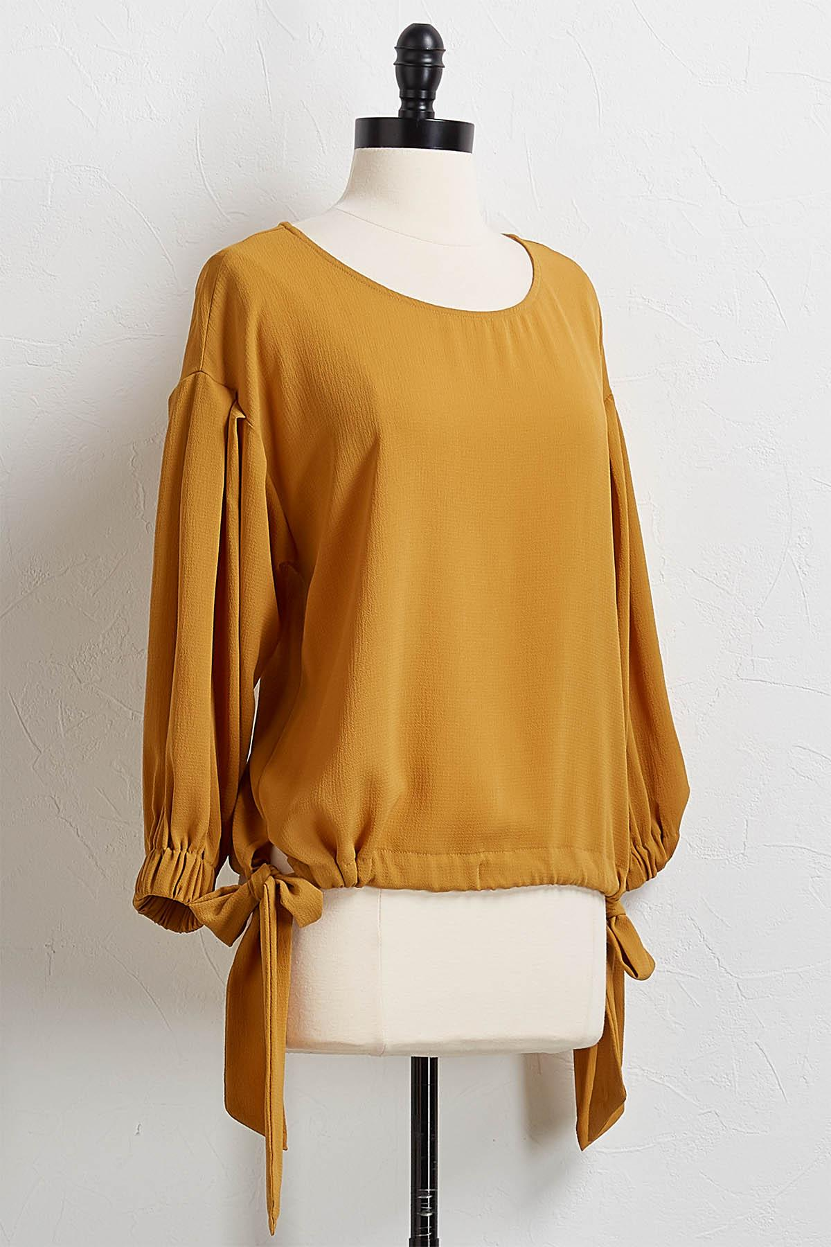 Golden Tie Waist Top