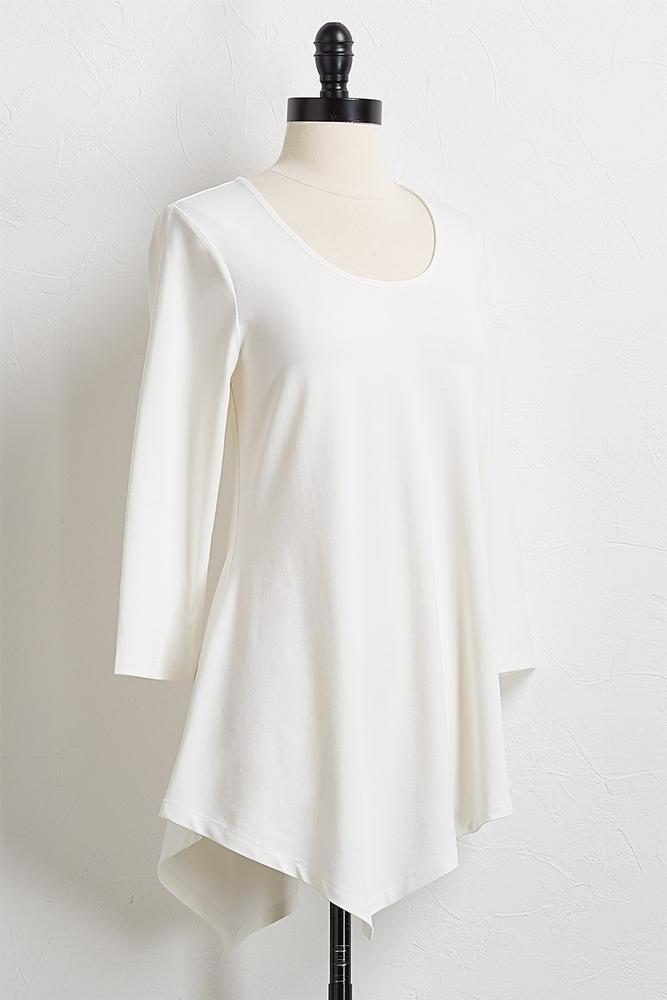 Solid Asymmetrical Tunic