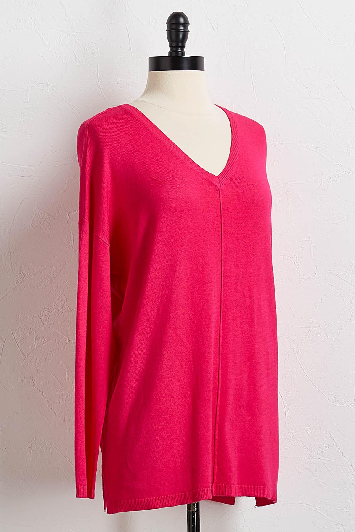 Popping Pink Tunic Sweater