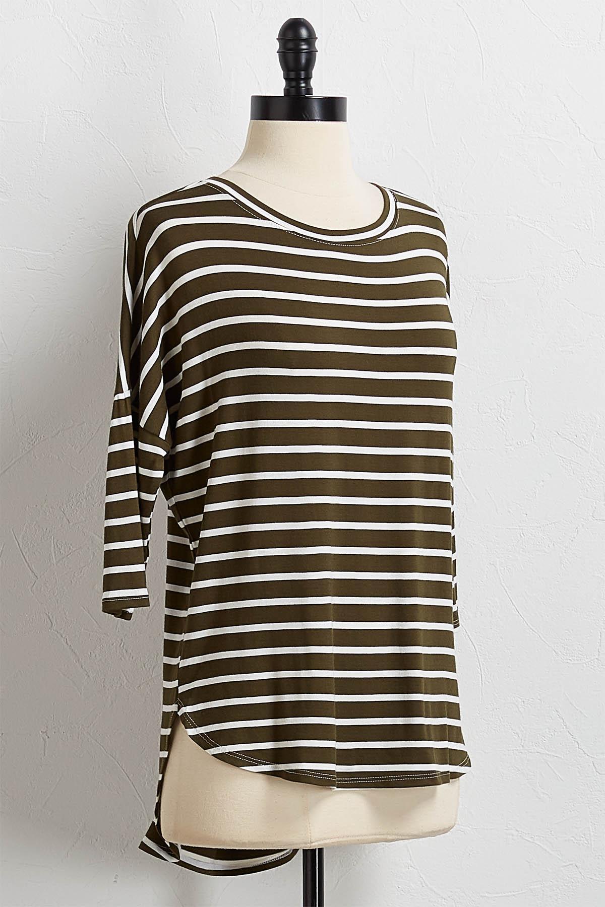 Stripe High- Low Tee