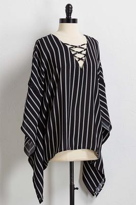 stripe poncho top