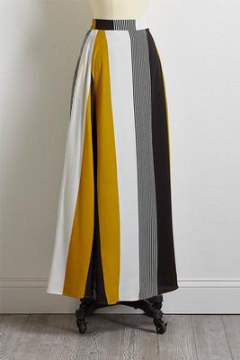 gold stripe maxi skirt
