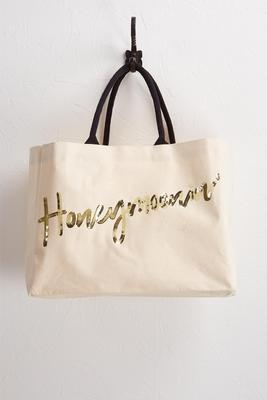 newlywed canvas tote