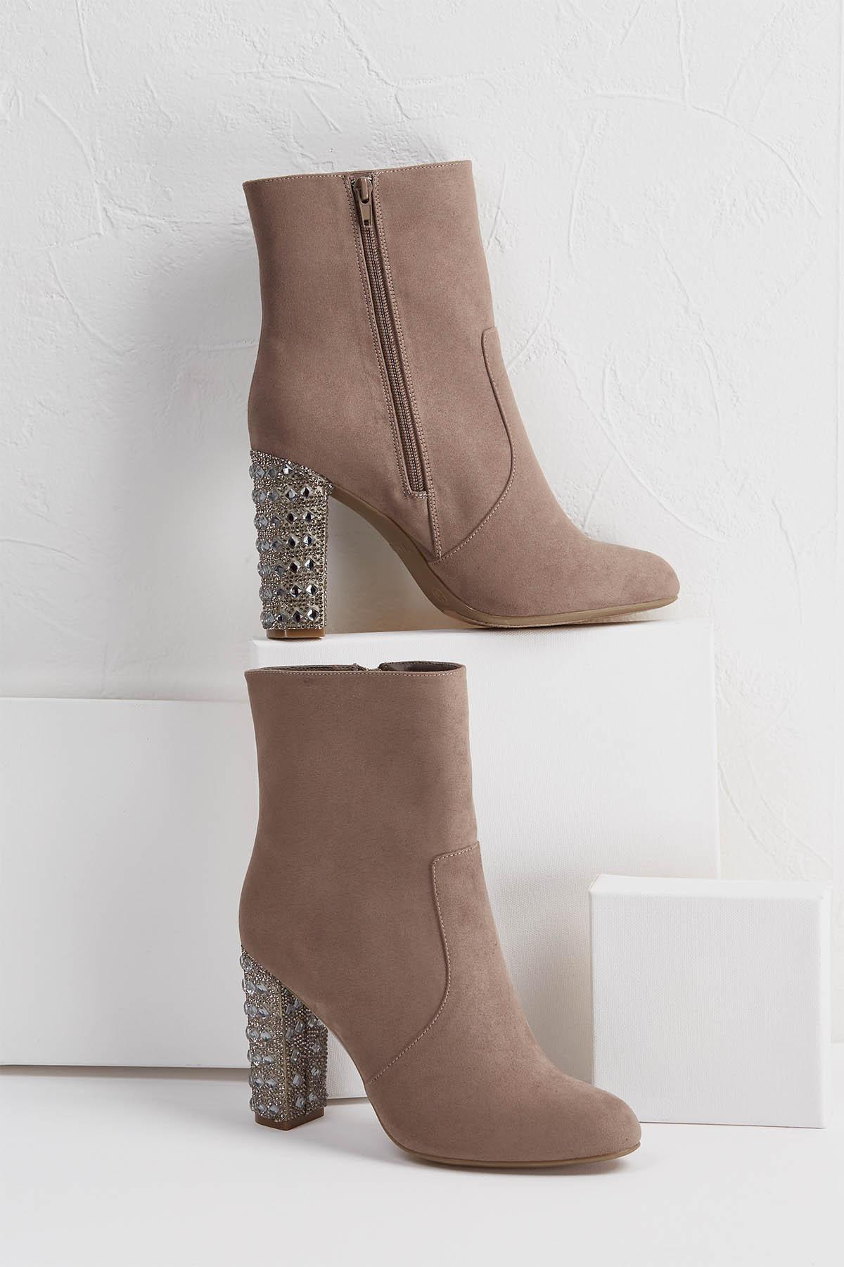 Rhinestone Embellished Boots