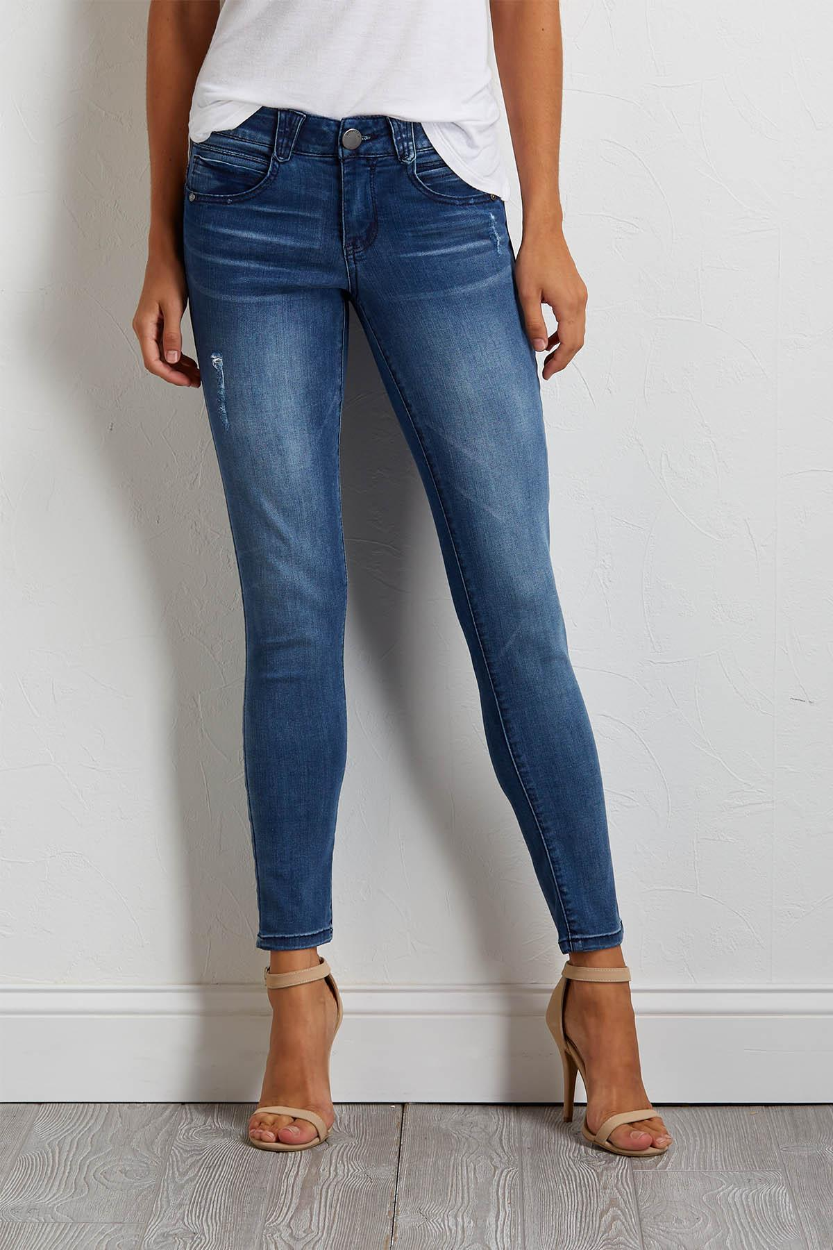 Distressed Faded Jeggings