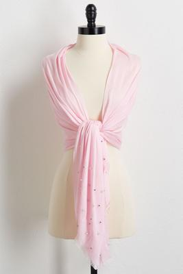 pearl embellished scarf s