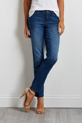 shape enhancing straight leg jeans s