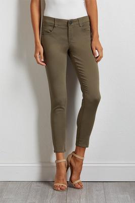 olive twill pants